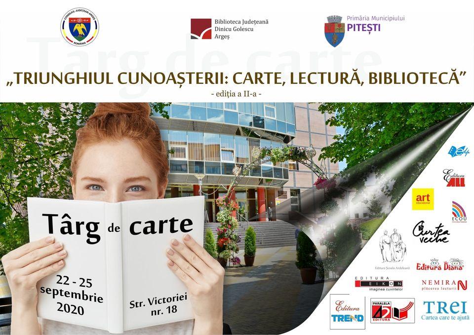 TÂRG DE CARTE LA PITEȘTI, ÎN FAȚA BIBLIOTECII JUDEȚENE