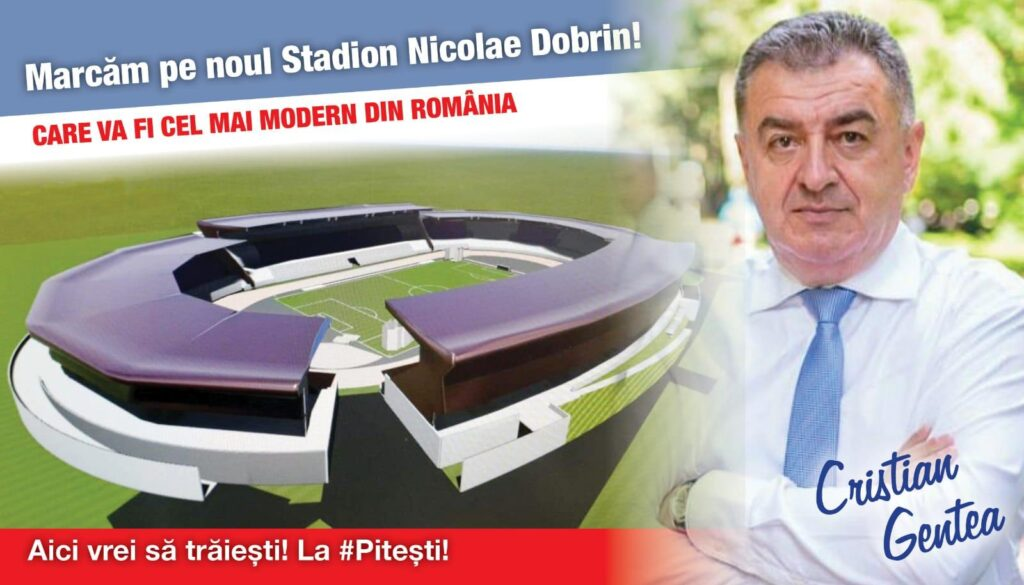 """CRISTIAN GENTEA: """"Noul stadion al Piteştiului va fi o bijuterie în palmaresul arenelor naţionale"""""""
