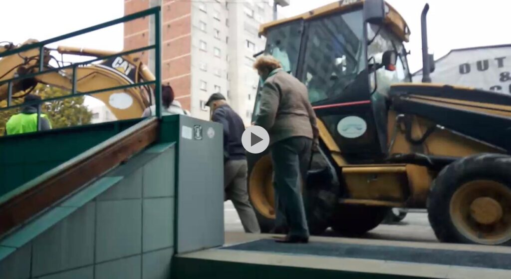 (VIDEO) PERICOL PE ŞANTIERUL DE PE I.C. BRĂTIANU!