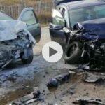 (VIDEO) ACCIDENT GRAV ÎN ARGEȘ. VICTIMĂ ÎNCARCERATĂ