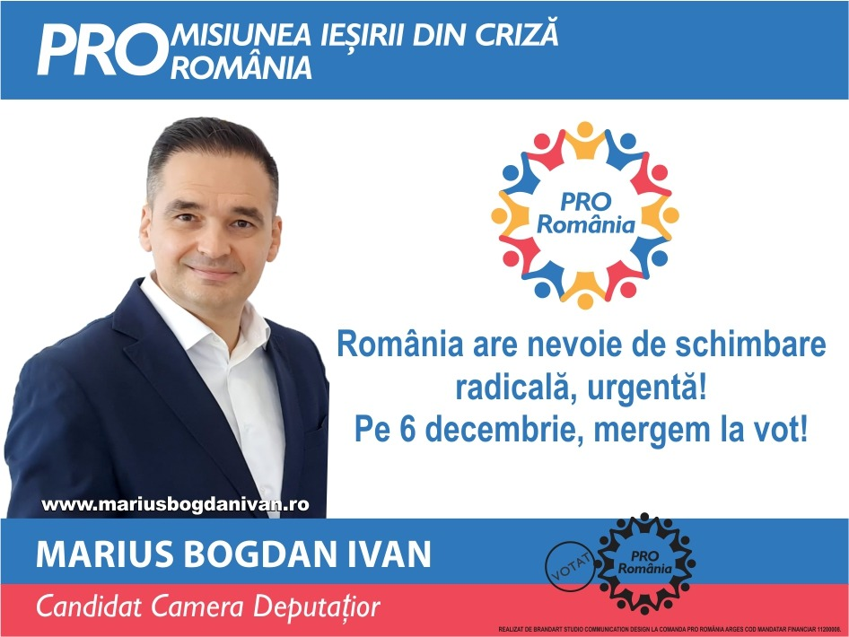 BOGDAN IVAN (PRO România):