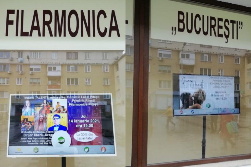 AFIȘAJ DIGITAL LA CENTRUL MULTIFUNCȚIONAL PITEȘTI