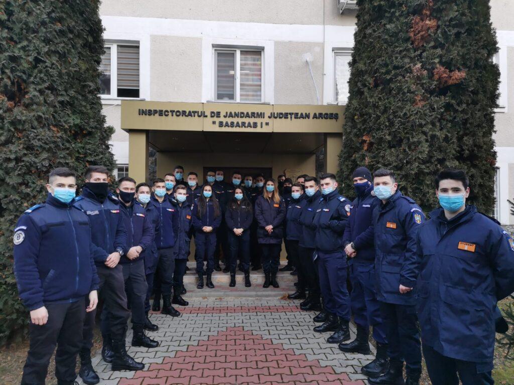 28 DE STUDENȚI, PRACTICĂ ÎN CADRUL JANDARMERIEI ARGEȘ
