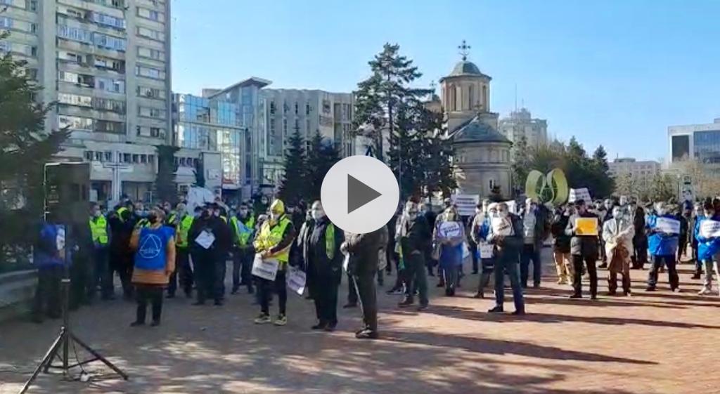 (VIDEO) ACUM! POLIȚIȘTII PICHETEAZĂ PREFECTURA ARGEȘ
