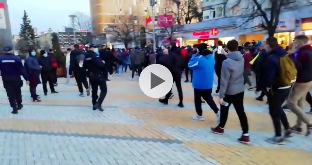 (VIDEO) ACUM! PROTEST DE AMPLOARE ÎN CENTRUL PITEȘTIULUI