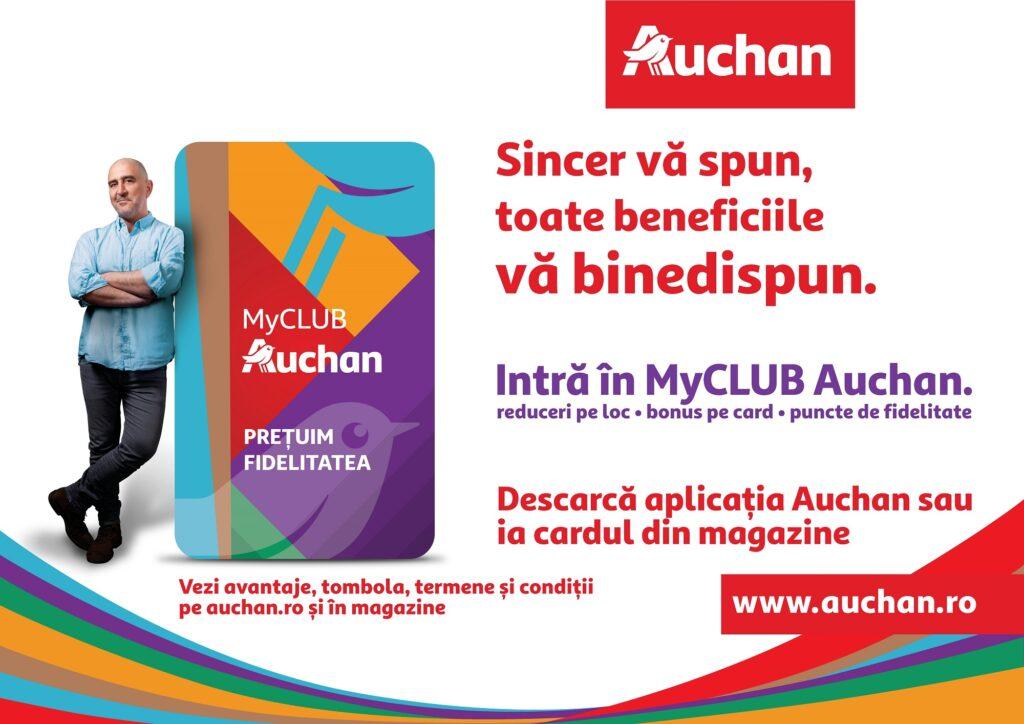 Surpriză pentru argeșeni: Auchan România a lansat programul de fidelitate MyCLUB Auchan