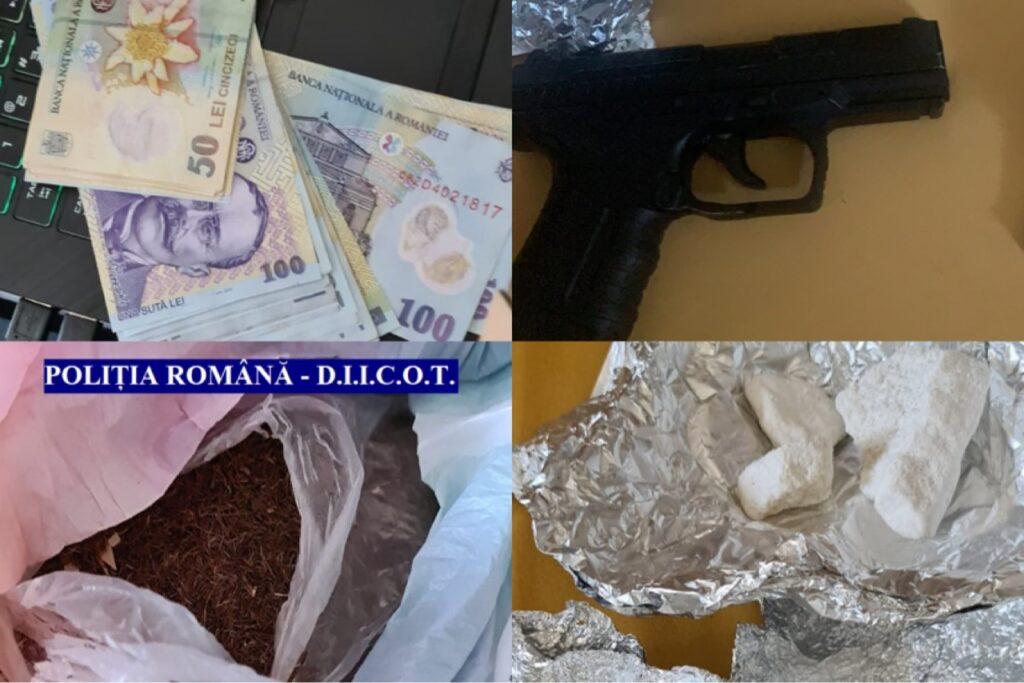 Percheziții în Pitești și Mioveni. Trafic de droguri de mare risc