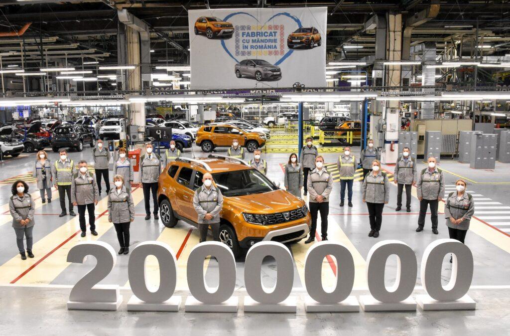 Dacia a produs Dusterul cu nr. 2.000.000