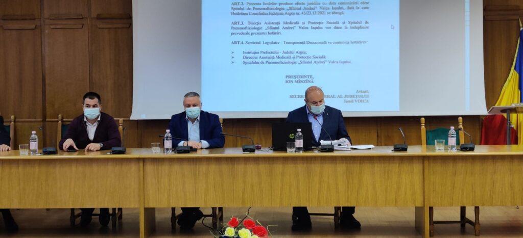 Consiliul Judeţean a hotărât! Bani pentru unităţi medicale din Argeş