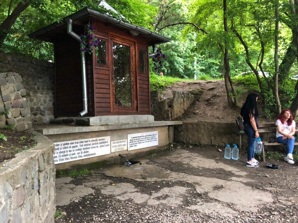 Coadă la izvorul din Pădurea Trivale