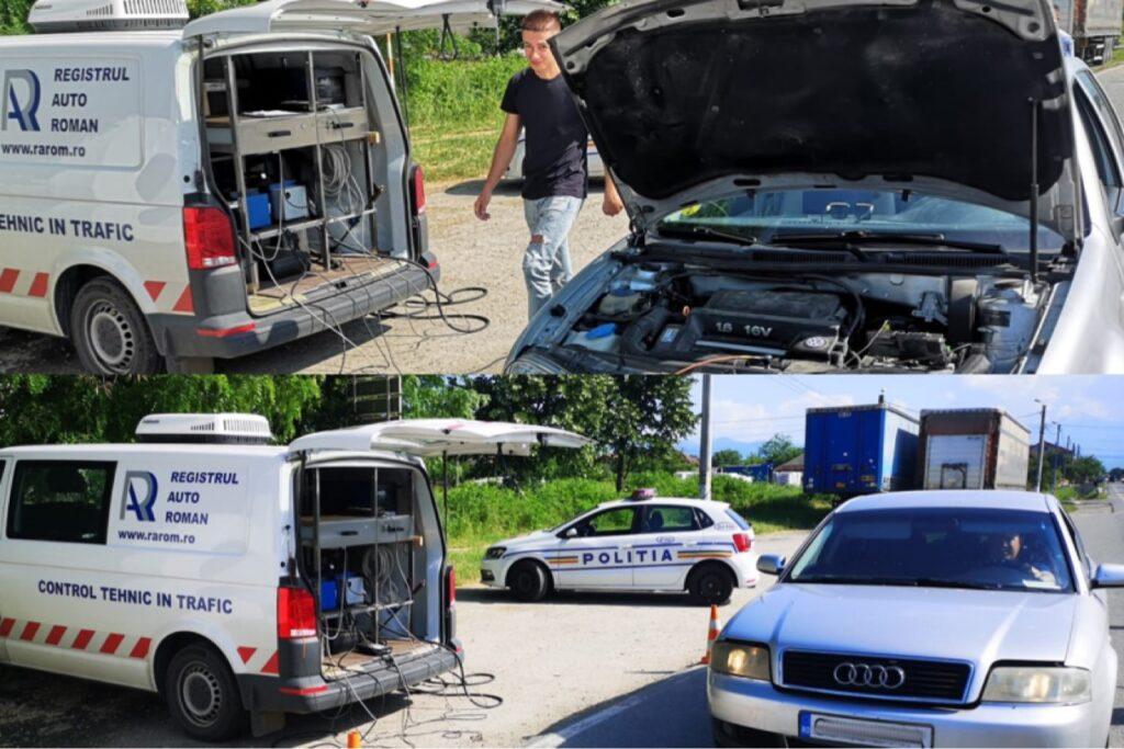 Maşini verificate în trafic de poliţişti şi inspectori ai RAR