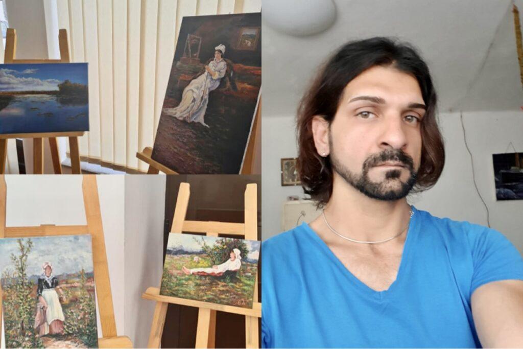 Tibi, pictorul instituționalizat, pune în vânzare 50 de tablouri