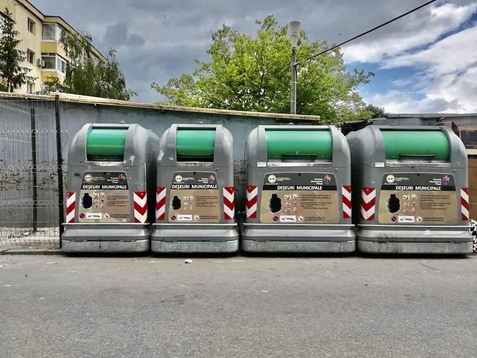 Containere noi în cartierul Banat din Pitești