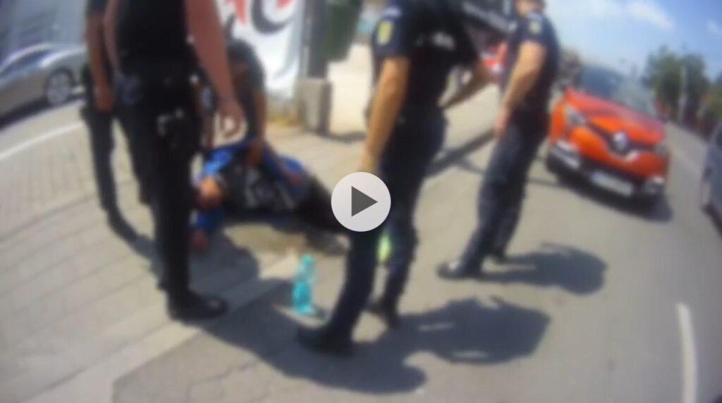 (Video) Bărbat căzut pe stradă în Pitești. Era inconștient!