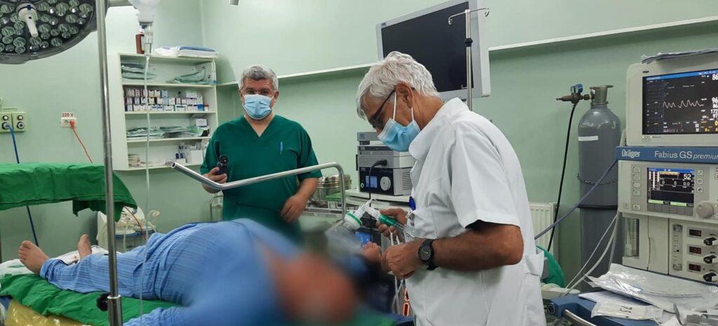Pacient cu hernie,