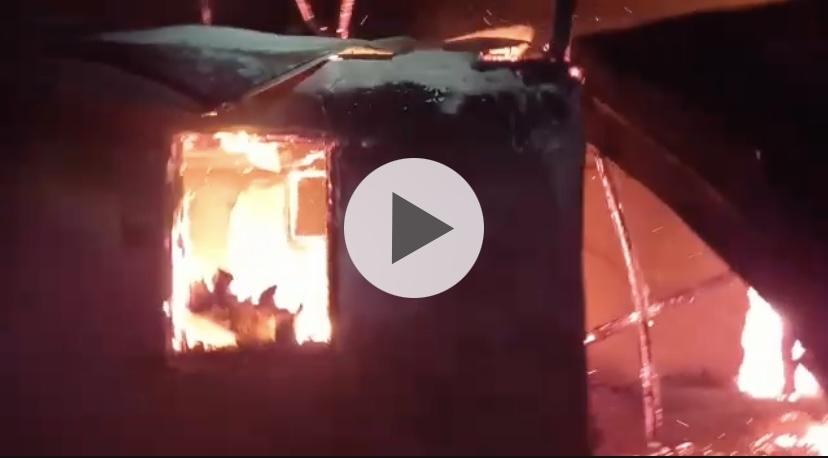 (Video) Casă făcută scrum în Argeș