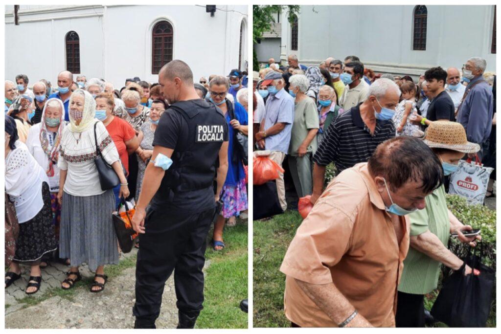 Video   La biserica Sf. Ilie din Pitești, aglomerație pentru pachete