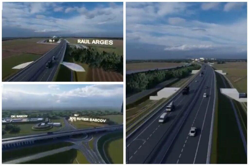 Imagini 3D cu tronsonul 5 al autostrăzii Pitești-Sibiu