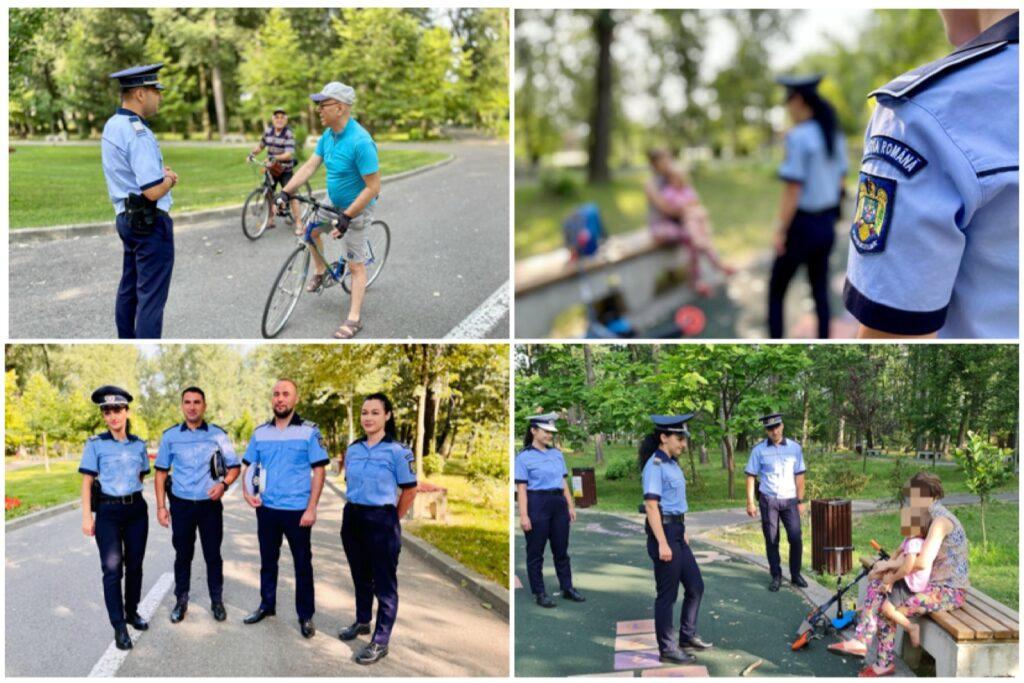 Bicicliștii din Lunca Argeșului, instruiți astăzi de Poliția Rutieră