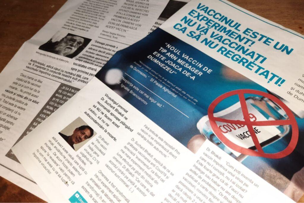 Din nou! Propagandă anti-vaccinare în Pitești