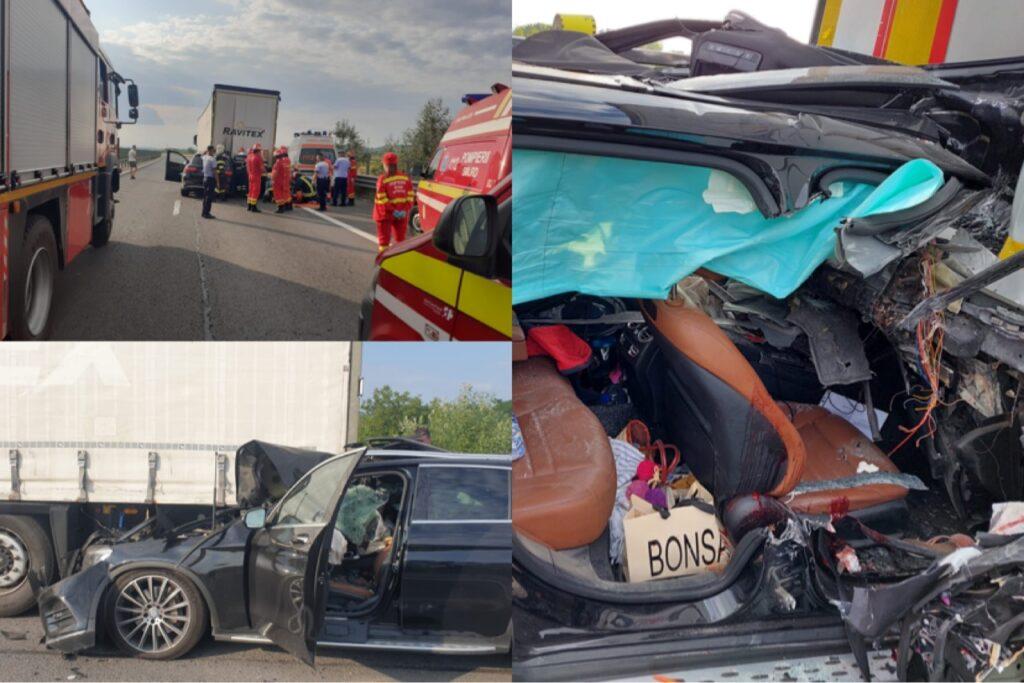 Video | Accident mortal pe A1. Imagini de groază!