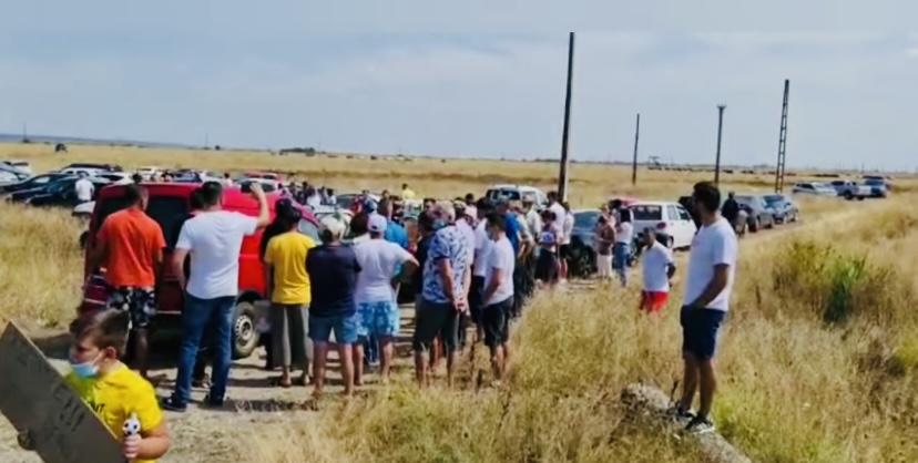 Zeci de protestatari la Oarja. Spun că au ajuns la disperare!