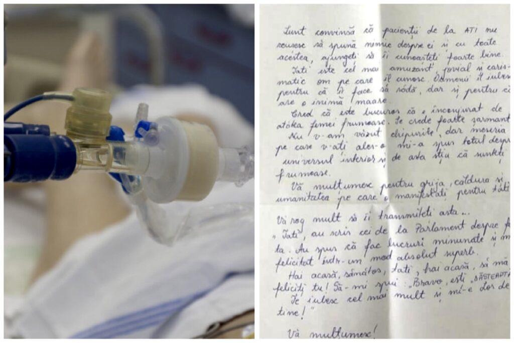 Scrisoare trimisă la ATI pentru un tată bolnav de Covid