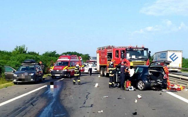 Accident cu doi morți pe Autostrada Pitești-București