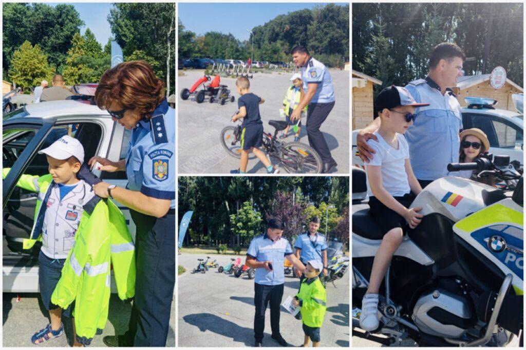 Video | Polițiștii, activități pentru copii în parcul Lunca Argeșului