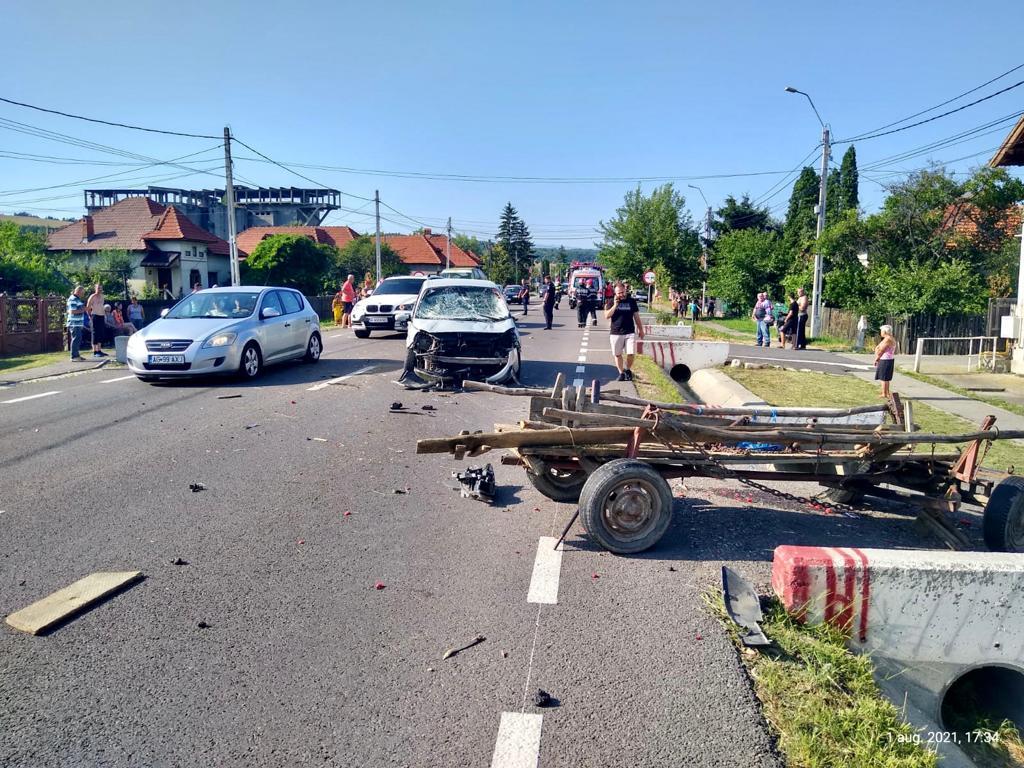 Căruțaș grav rănit în accident la Schitu Golești