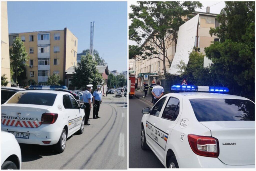 Sute de sancțiuni și mașini ridicate în Pitești de polițiștii locali