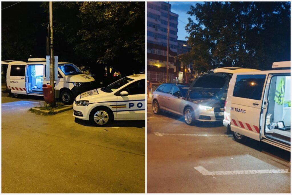 Mașinile tunate care urlau noaptea la Pitești, verificate de Poliție