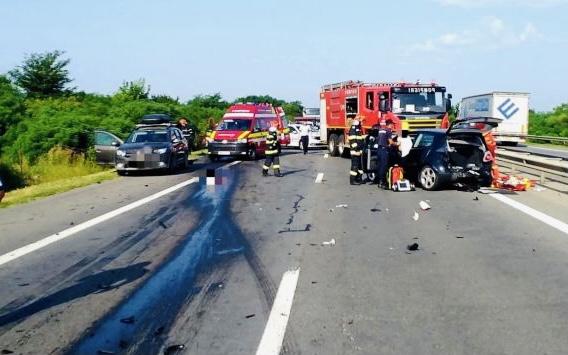 Accident cu 5 victime la capătul autostrăzii București-Pitești