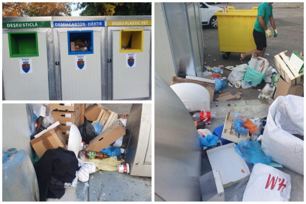 Video: Unii piteșteni nu respectă colectarea selectivă a deșeurilor