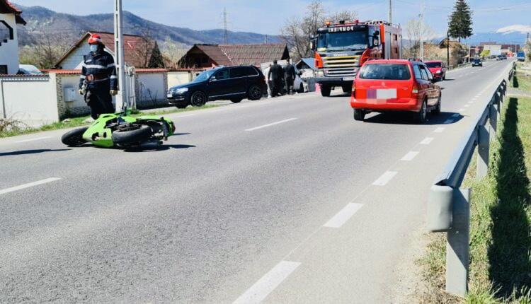 Motociclist accidentat la Mărăcineni