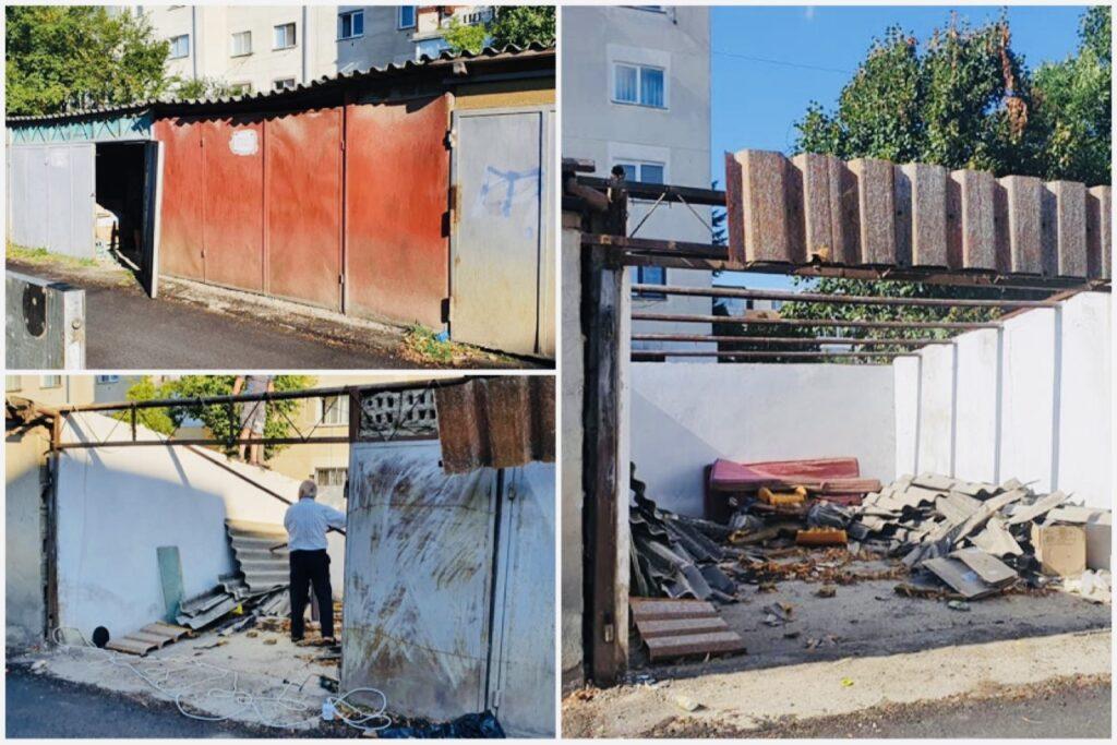Garajele ilegale din Pitești încep să dispară!