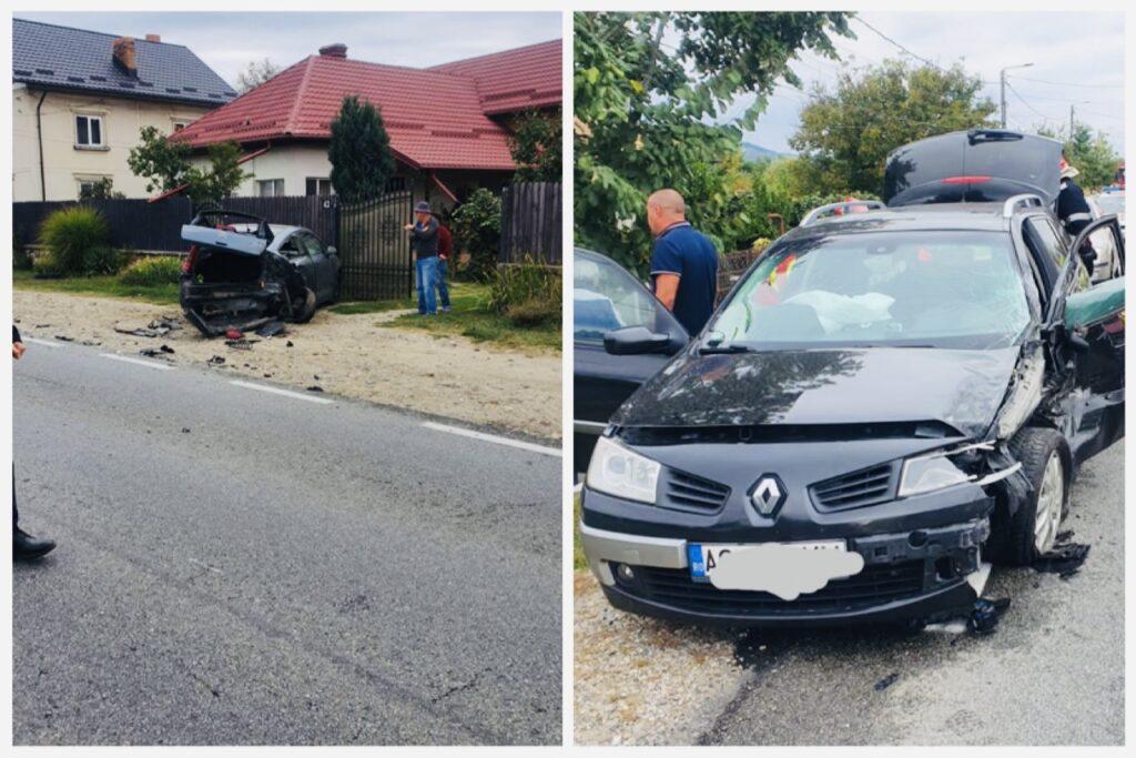 Un tânăr de 24 ani a intrat într-o mașină parcată la Băiculești