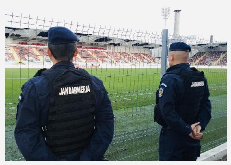 Jandarmii argeșeni, prezenți pe stadion în acest weekend