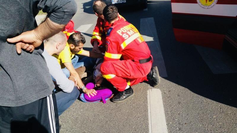 Femeie lovită de un autoturism la Coșești