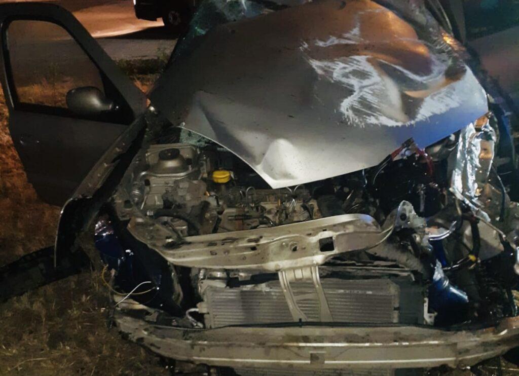 Autoturism răsturnat pe A1. Tânăr de 21 ani, rănit!
