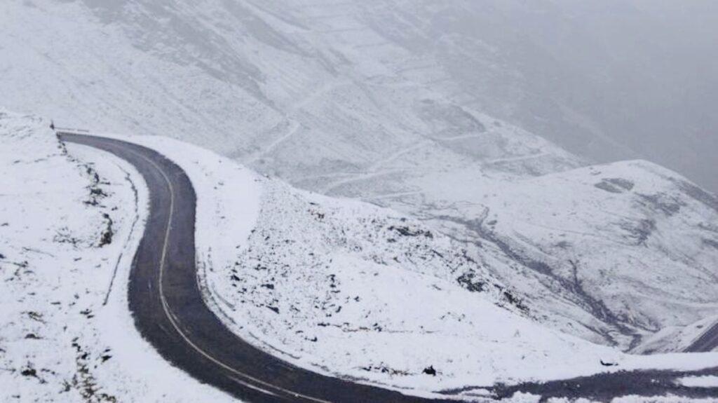 A nins prima oară în acest an pe Transfăgărășan