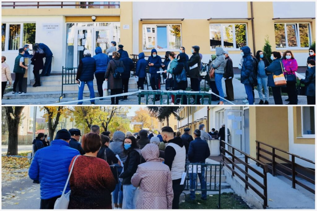 Video: Centrele de vaccinare Covid din Pitești, luate cu asalt!