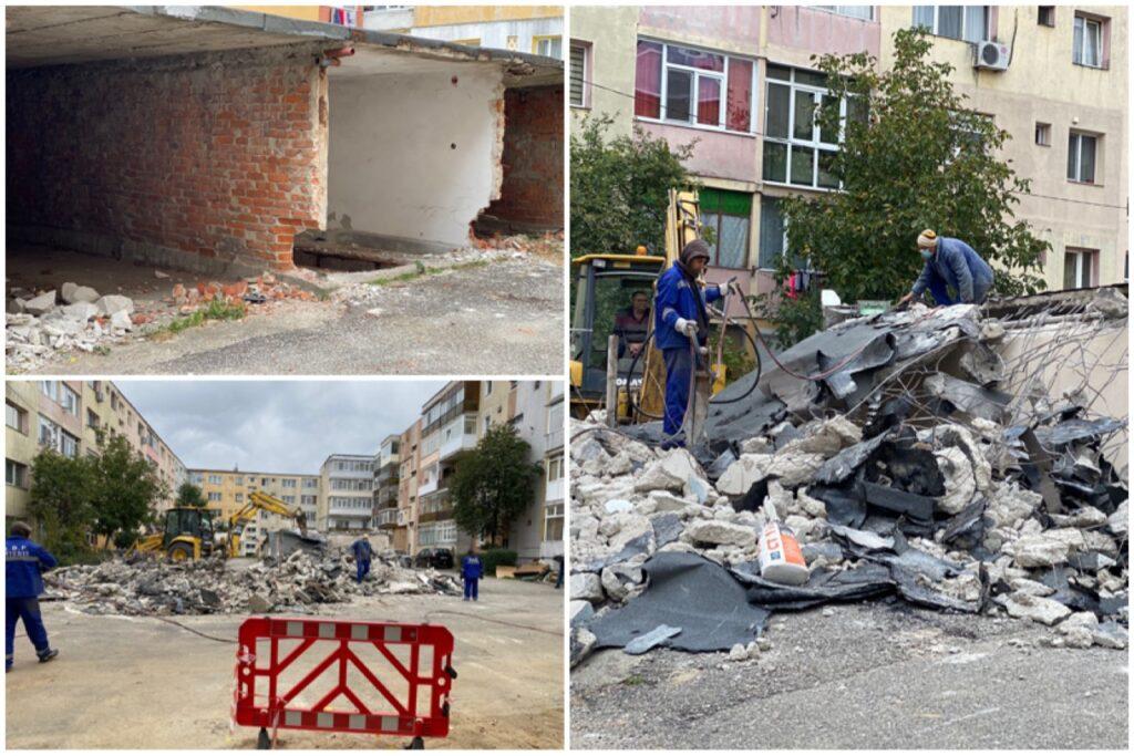 Zeci de garaje demolate în Trivale, o parcare modernă în loc!