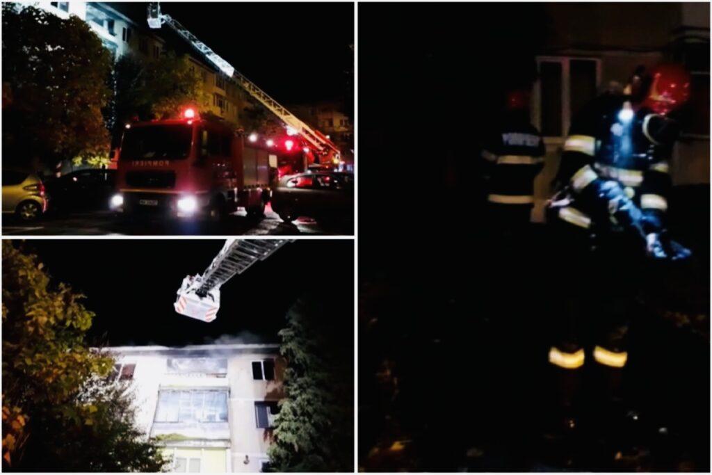 Incendiu într-un apartament din Pitești,  30 de persoane evacuate!
