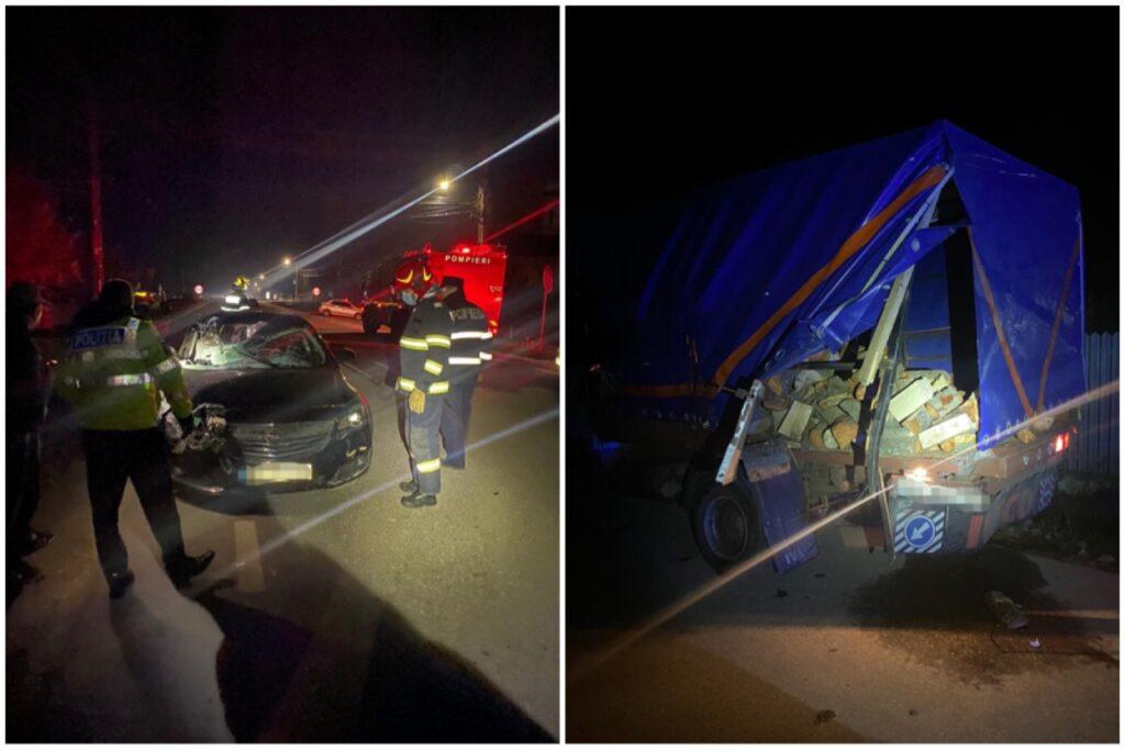 Video: Accident cu victime în Argeș, a intrat în duba cu lemne