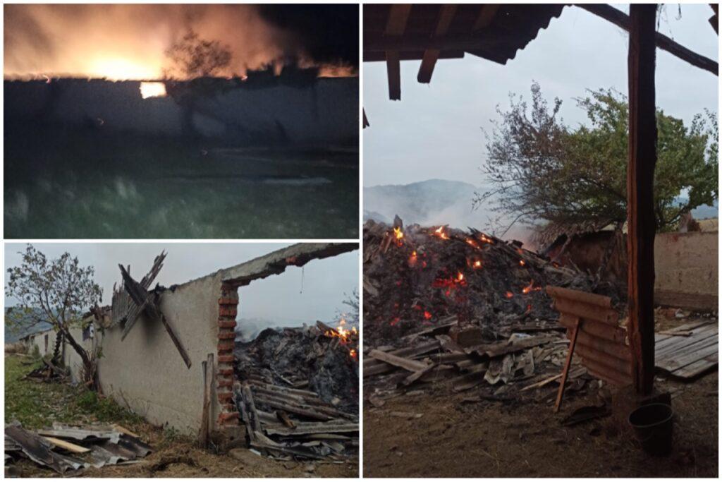 Incendiu pus intenționat la un adăpost de animale în Argeș