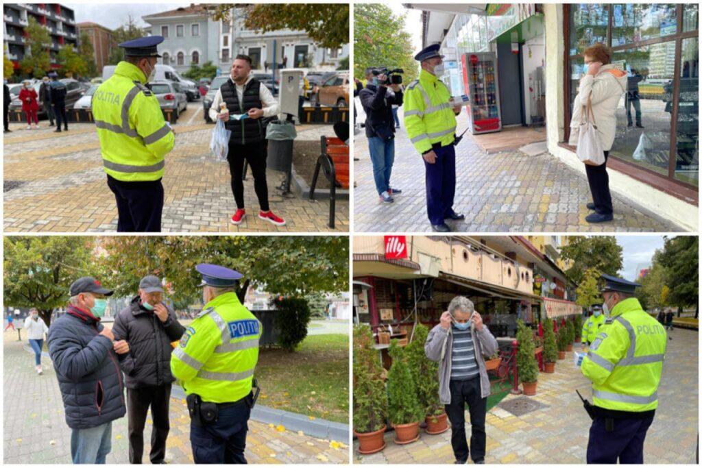 Video: Poliţiştii, masca la control în centrul Piteştiului!